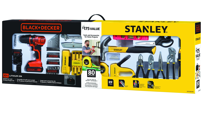 STANLEY BLACK+DECKER BCPKSBD99CWM 20V 79pc Home Project Kit $35 @ Walmart YMMV
