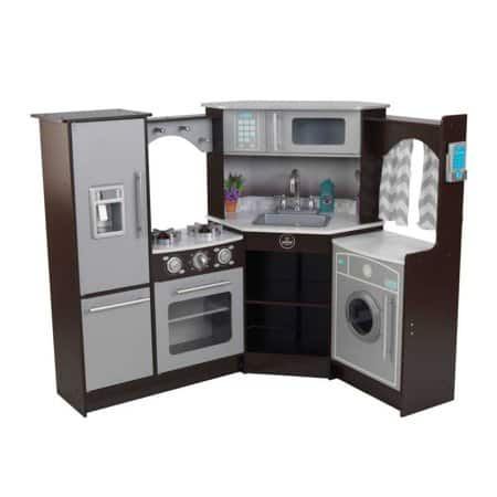 Kidkraft Ultimate Corner Play Kitchen with Lights & Sounds - Espresso  $114.88 @ Walmart