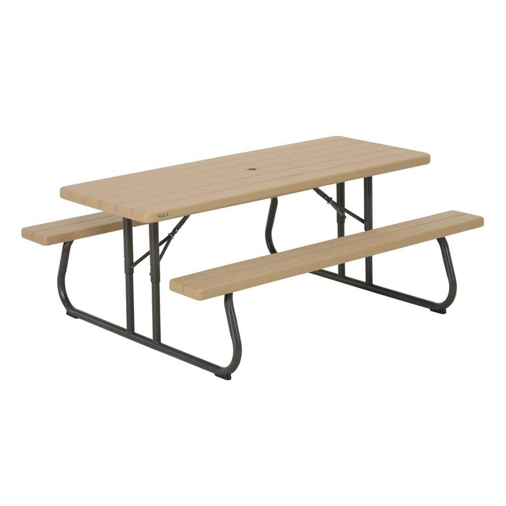 Lifetime 6 ft. Heather Beige Folding Picnic Table $80 @ Home Depot YMMV