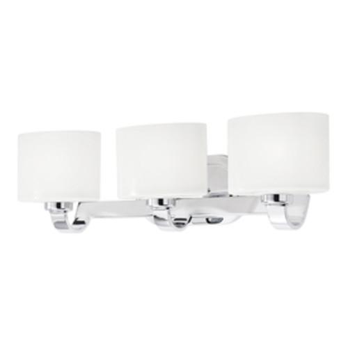 Kichler 3-Light Chrome Modern/Contemporary Vanity Light $23.99 @ Lowes YMMV