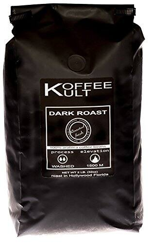 Amazon Lightning Deal - Koffee Kult Dark Roast Coffee Beans - Highest Quality - Whole Bean Coffee - Fresh Coffee Beans, 32oz $9.99