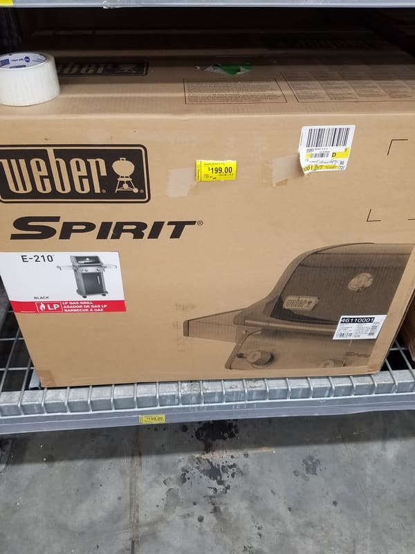 Weber Spirit E-210 2-Burner LP Gas Grill, Black - Walmart CLEARANCE - $199.99 YMMV