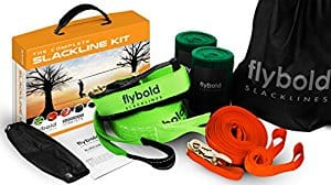 Flybold slackline kit for beginners 57 feet w/ training line $39.99