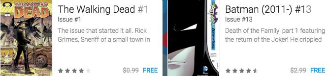 44 Free eComics (Walking Dead/Batman & More) ~ Google Play