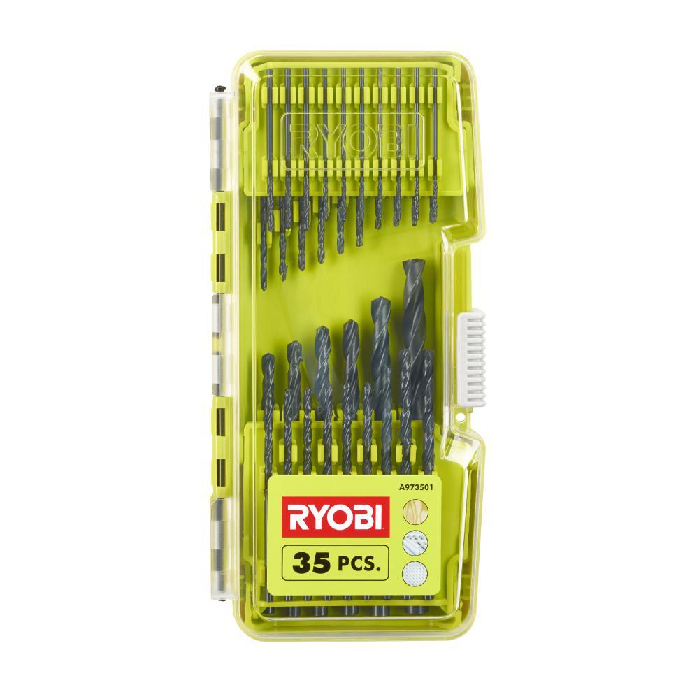 Ryobi: Black Oxide Drill Bit Set (35-Piece)/Steel Driving Kit (51-Piece) $4.88 each w/store pick up (YMMV) ~ Home Depot