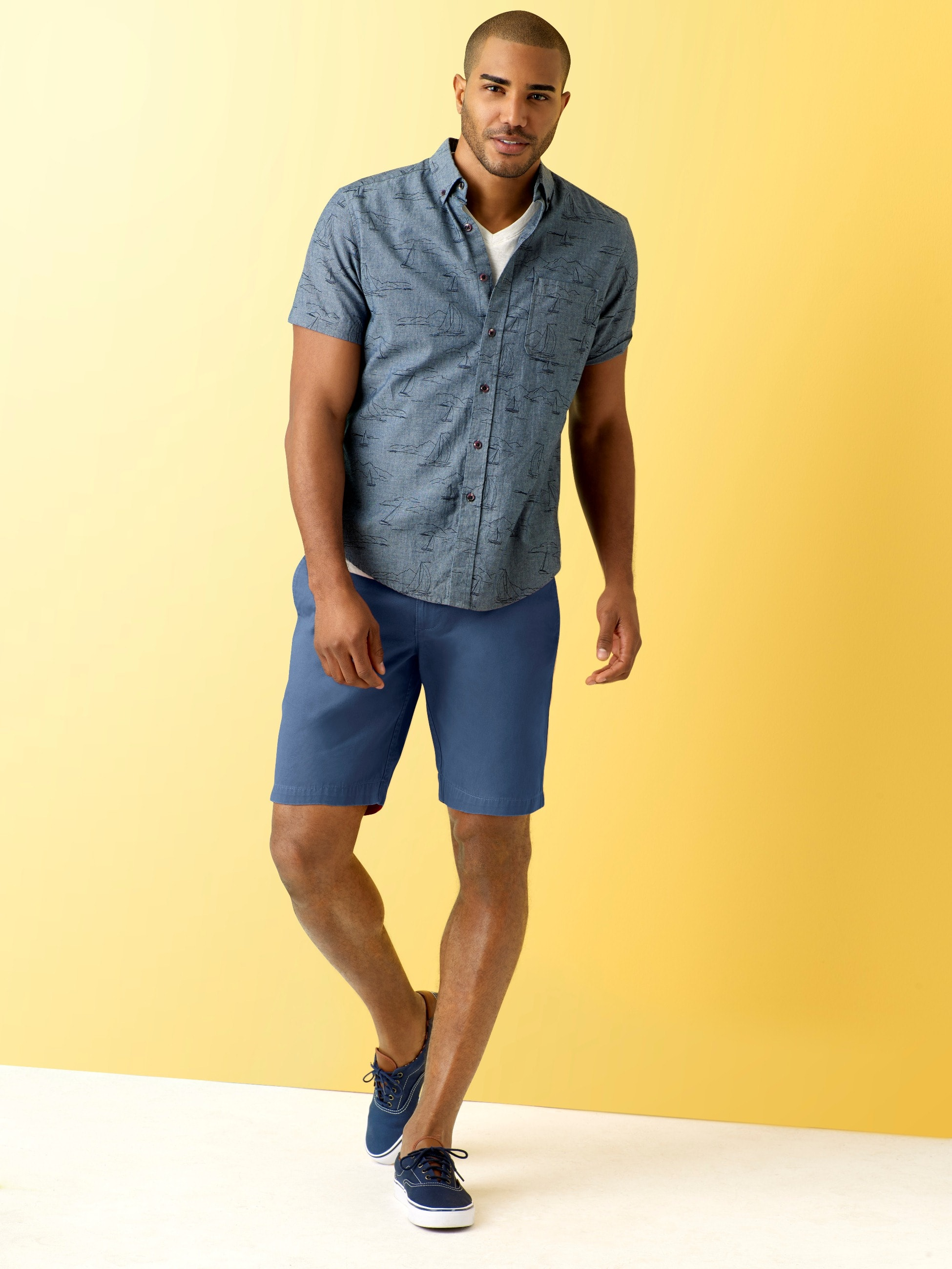 Simply Styled Men's Cotton Lived-In Flat Front Shorts: $3.82 (YMMV) w/store pick-up ~ Sears
