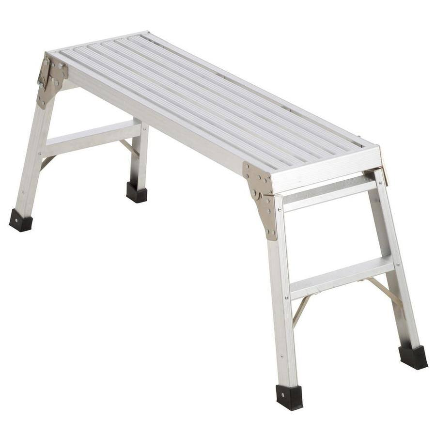 Werner 3.29-ft x 12-in x 20.56-in 225 lbs. Aluminum Work Platform $19.97 w/store pick up ~ Lowes