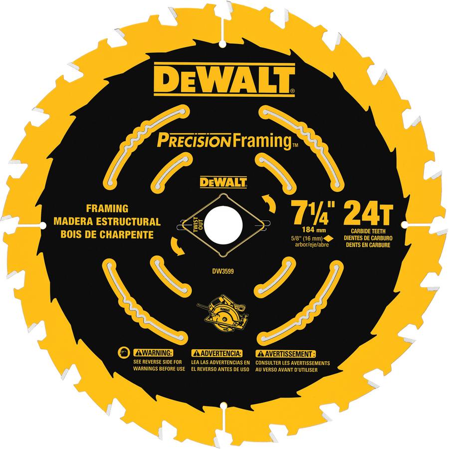 Dewalt precision trim 7 14 in 24 tooth carbide circular saw blade x dewalt precision trim 7 14 in 24 tooth carbide circular saw greentooth Gallery