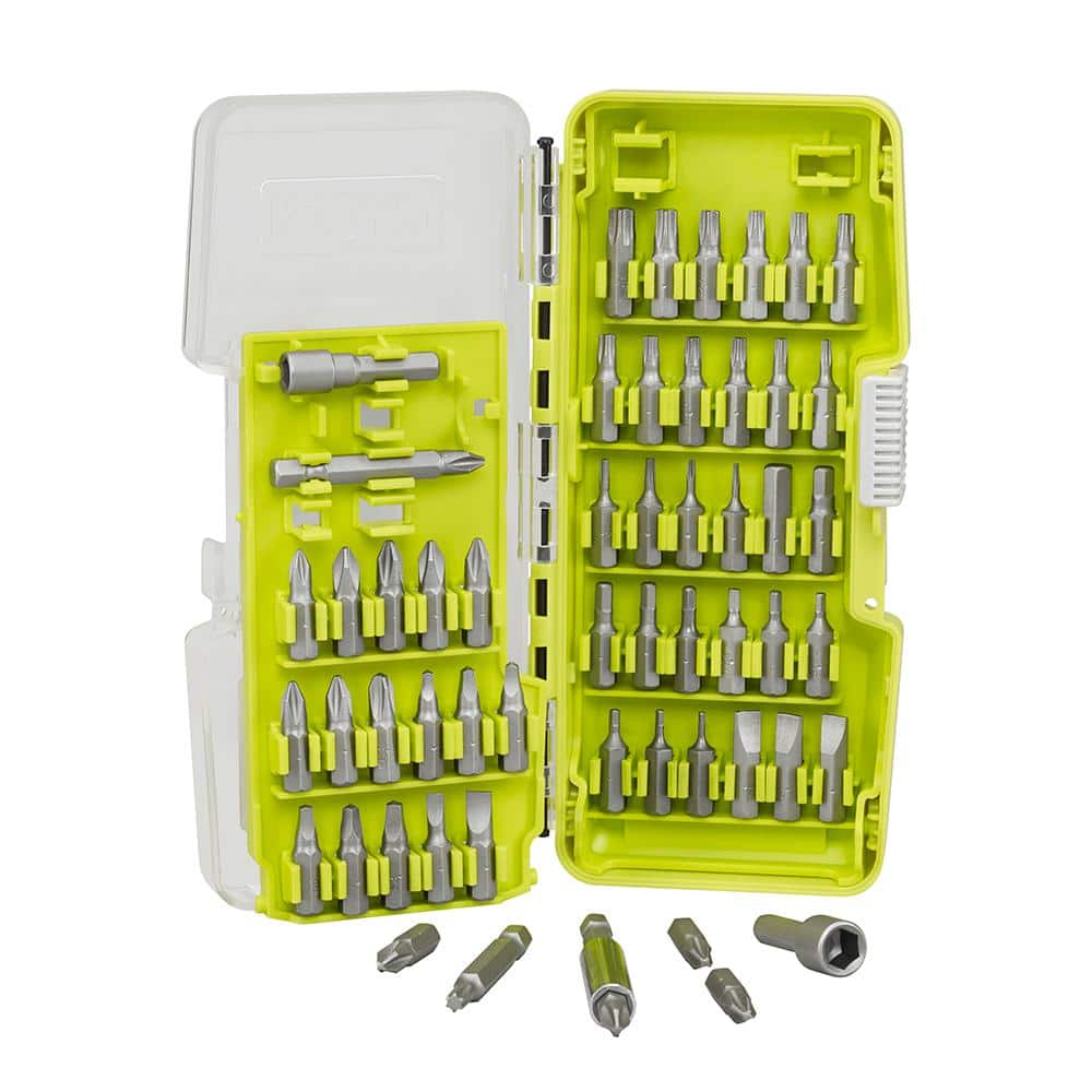 Ryobi Steel Driving Bit Set (55-Piece) $3 w/store pick up (YMMV) ~ Home Depot