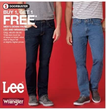 a8efc75a Belk Black Friday: Men's Denim from Lee and Wrangler - B1G1 Free ...