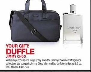 60815a828286 Macy s Black Friday  Jimmy Choo Man Ice Eau de Toilette Spray 3.3 oz. + Free  Duffle for  90.00