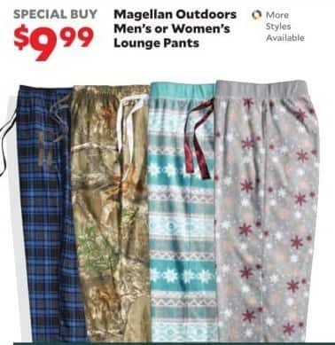 c5b7c2b12d5f3 Academy Sports + Outdoors Black Friday: Magellan Outdoors Men's or Women's  Lounge Pants for $9.99