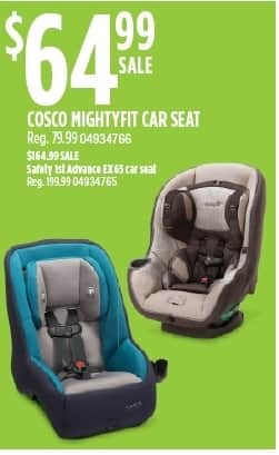 Sears Black Friday Cosco Mightyfit Car Seat For 6499