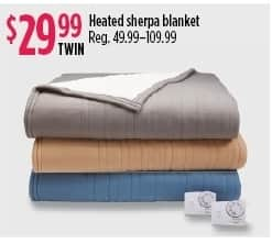 Sears Black Friday Heated Sherpa Blanket Twin For 24 99
