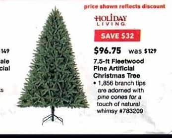 Holiday Living Christmas Tree.Lowe S Black Friday Holiday Living 7 5 Ft Fleetwood Pine