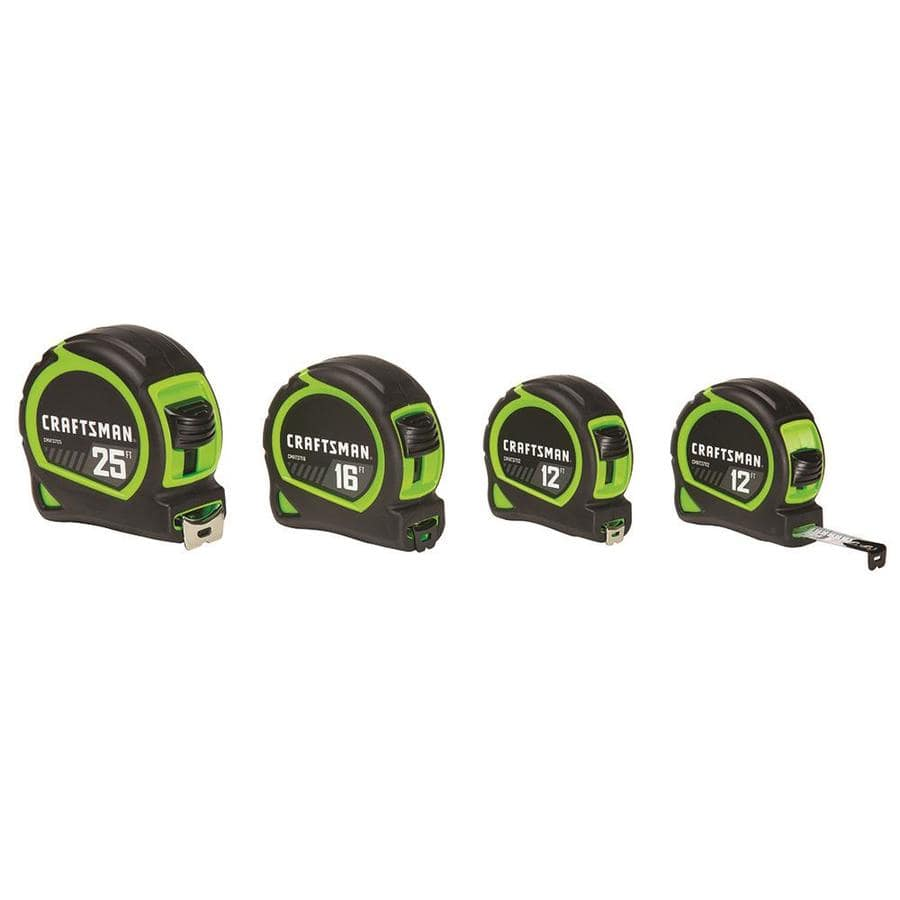 Craftsman 4-Pack Tape Measures $9.98 w/store pick-up ~ Lowes