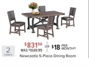 Value City Furniture Black Friday: Newcastle 5-Piece Dining ...