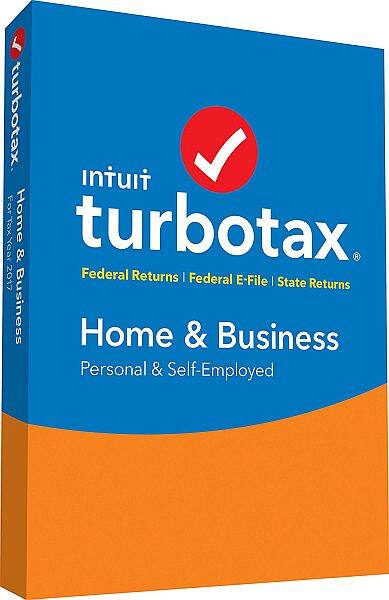 TurboTax Home & Business 2017 Fed+Efile+State PC/Mac Disc $64.86 with free shipping