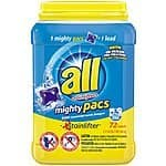 All Mighty Pacs Laundry Detergent - Stainlifter - 72 Count Tub - $7.97 AC (Amazon.com Add-On Item)
