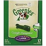 Greenies Weight Management Treats For Large Dogs - 27 ounce - $14.79 AC & S&S ($12.95 AC & 5 S&S orders) - Other Varieties Available
