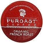 Puroast Low Acid Coffee - Keurig Compatible (K-Cups) - Organic French Roast or House Blend - $6.36/$6.20 AC & S&S ($4.95/$4.82 AC & 5 S&S Orders)
