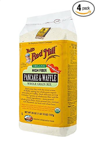 Bob's Red Mill Organic High Fiber Pancake & Waffle Whole Grain Mix - 4 Pack of 26 Ounce Bags - $12.54 AC & S&S ($10.87 AC & 5 S&S Orders)