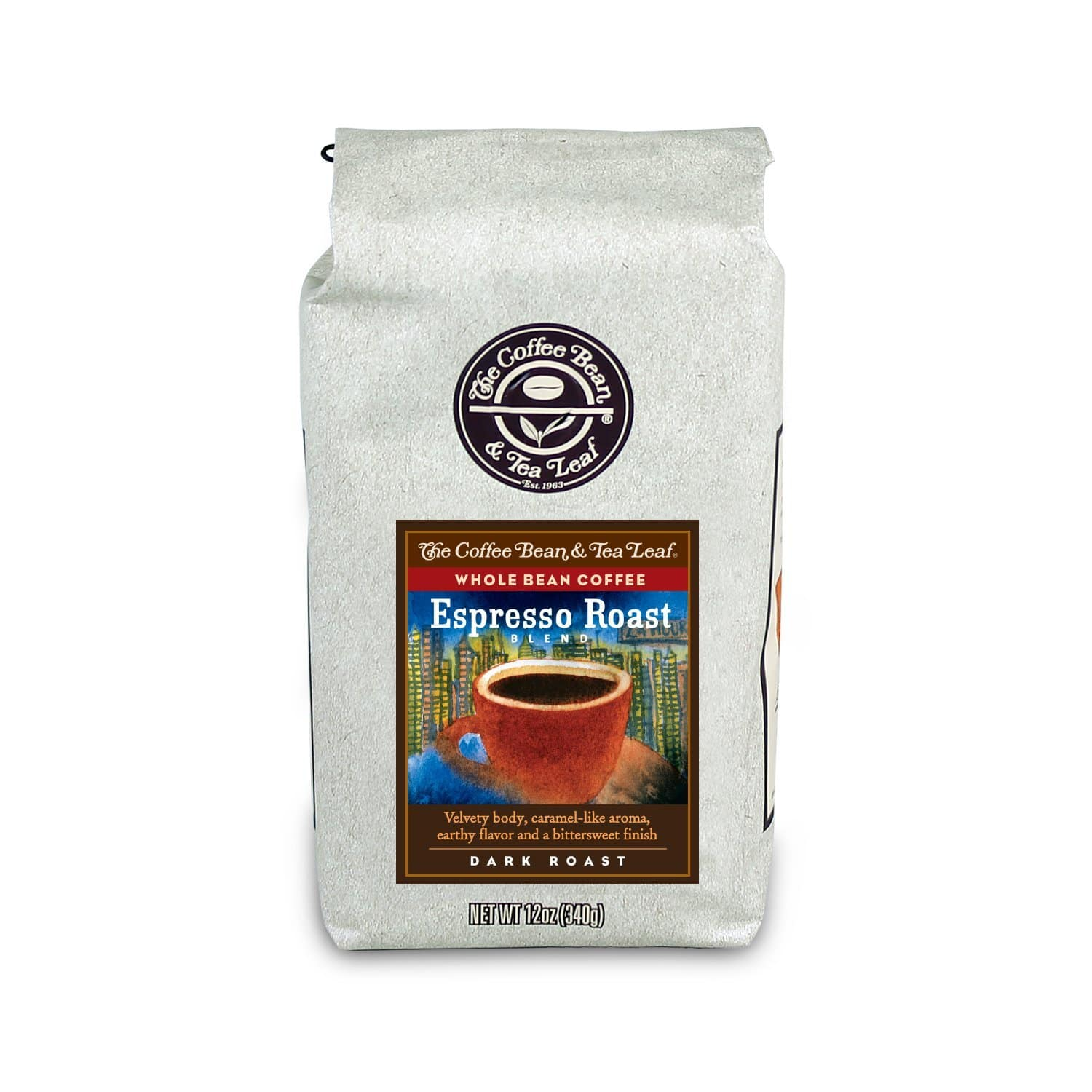 The Coffee Bean & Tea Leaf Hand-Roasted Espresso Whole Bean Coffee - 12-Ounce Bags (Pack of 3) - $13.61 AC & S&S ($11.66 AC & 5 S&S Orders) - Amazon