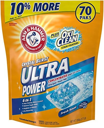 Arm & Hammer Laundry Detergent Plus OxiClean Power Paks - 70 Count Fresh Scent - $6.50 AC & S&S ($5.71 AC & 5 S&S Orders) - Amazon.com