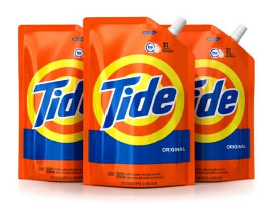 Tide Original Scent HE Turbo Clean Liquid 6x Cleaning Power Laundry Detergent - 3-Pack 48 ounce pouches - 93 loads - $15.02 AC & S&S ($12.97 AC & 5 S&S Orders) - Amazon
