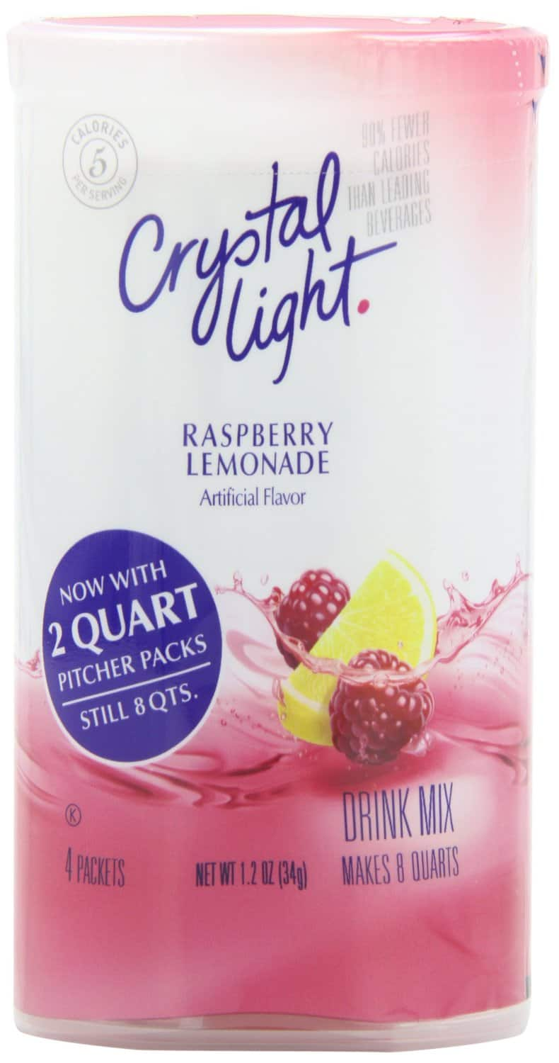 4-Pack Crystal Light Raspberry Lemonade Drink Mix (Each Makes 8-Quarts) - $4.63 AC & S&S ($3.97 AC & 5 S&S Orders) + Free Shipping - Amazon