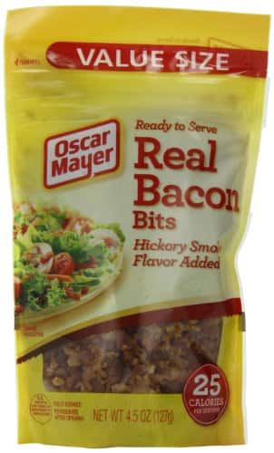 6 Pack Oscar Mayer Real Bacon Bits - 4.5-Ounce Pouches (27 Ounces Total) - $12.52 AC & S&S ($10.73 AC & 5 S&S Orders) + Free Shipping - Amazon