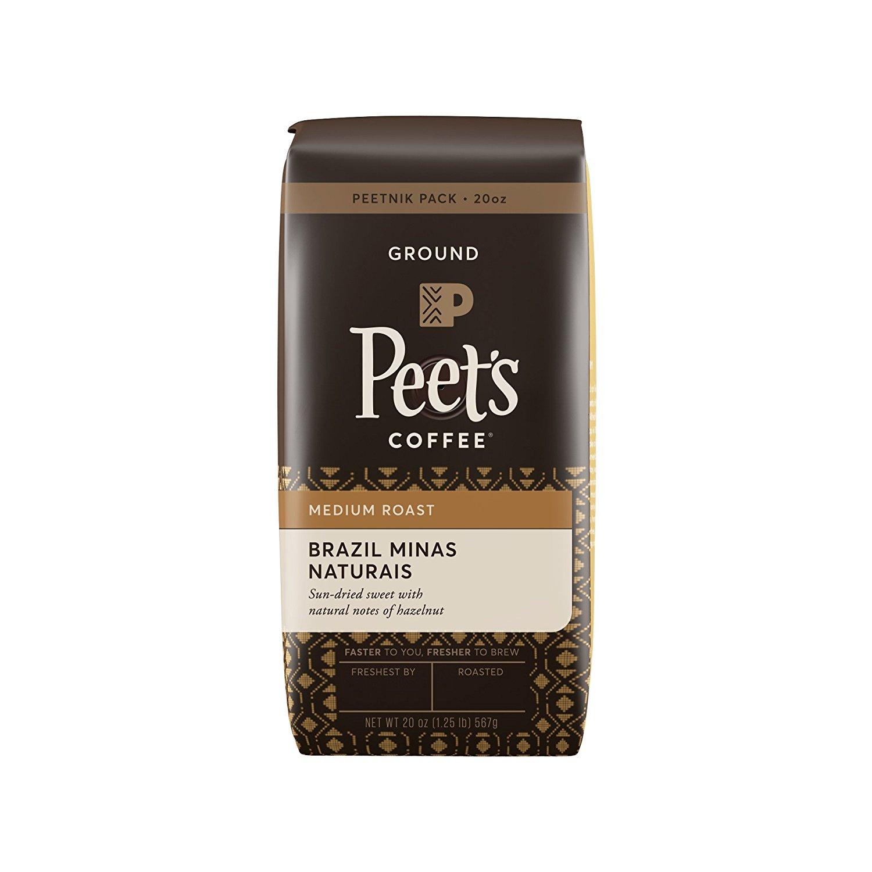 20 Ounce Bag of Peet's Coffee Peetnik Pack in Brazil Minas Naturais (Medium Roast, Ground) - $7.90 AC & S&S ($6.84 AC & 5 S&S Orders) + Free Shipping - Amazon