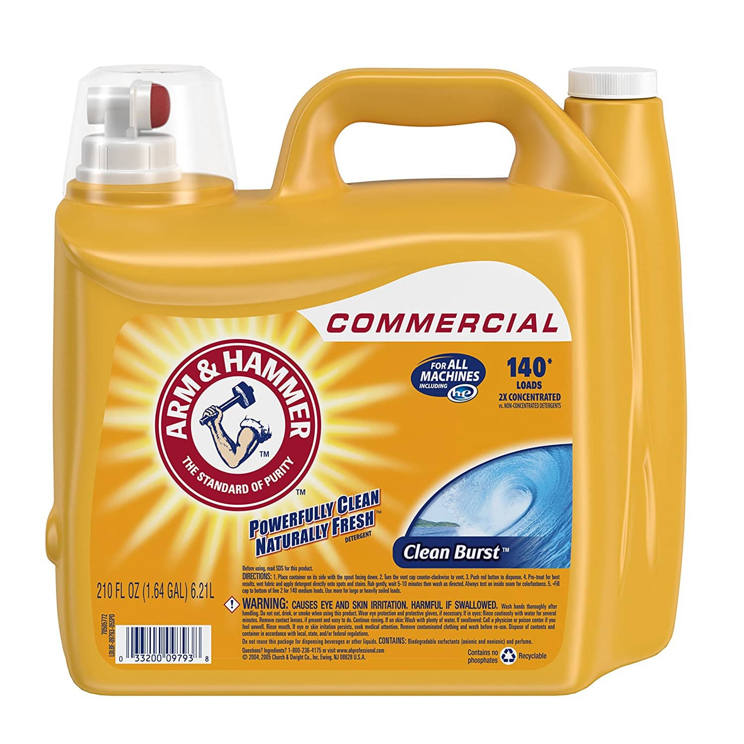 2 Count of 210 Ounce Arm & Hammer Dual HE Liquid Laundry Detergent in Clean Burst (280 total loads) - $16.98 AC ($15.98 AC & 5 S&S Orders) + Free Shipping - Amazon