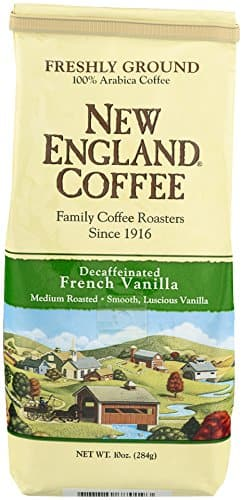 10 Ounce Bag New England Coffee   - , Decaffeinated French Vanilla (Ground) - $3.89 AC & S&S ($3.37 AC & 5 S&S Orders) + Free Shipping - Amazon