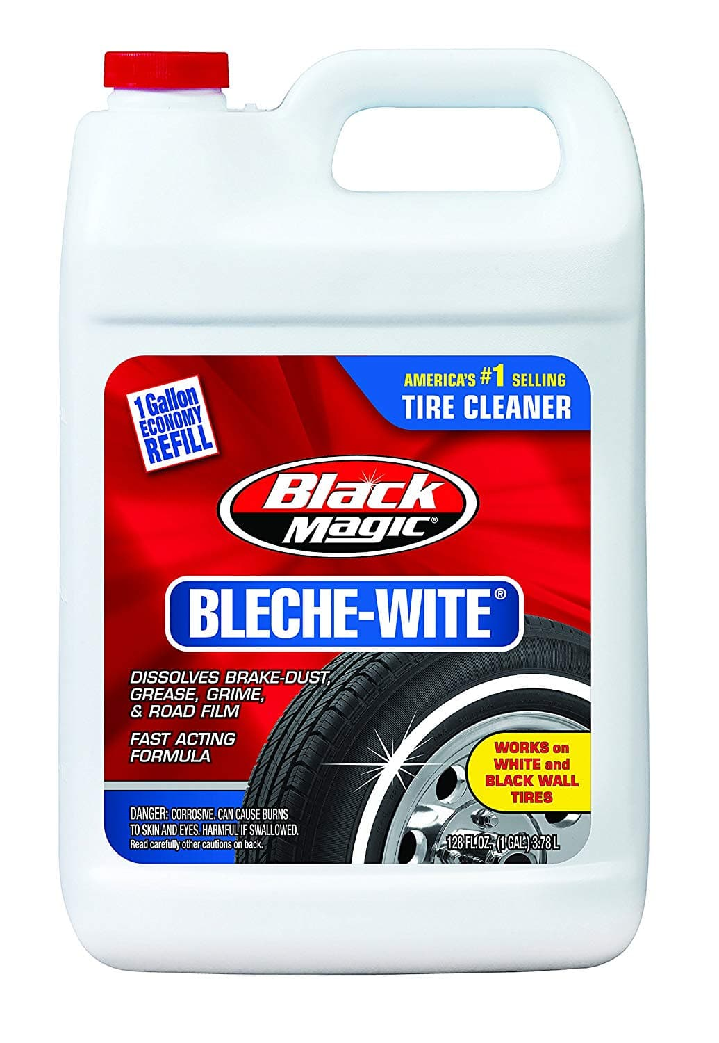 One Gallon Container Black Magic 800002222 Bleche-Wite Tire Cleaner - $7.23 With Subscribe & Save + Free Shipping - Amazon