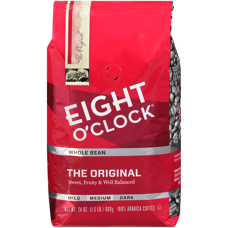 24 Ounce Bag Eight O'Clock Whole Bean Coffee (The Original) - $7.38 AC & S&S ($6.38 AC & 5 S&S Orders) + Free Shipping - Amazon