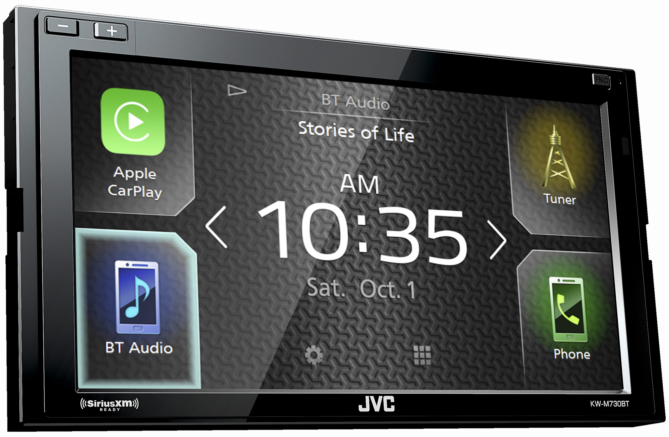 299.98! Installation Included! JVC-KW-M730BT car stereo with Apple CarPlay & Android Auto