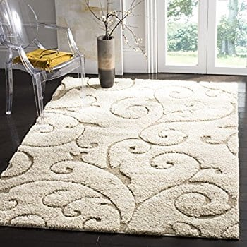 nuLOOM Cream Machine Made Maisha Area Rug, 4' x 6' $25.18