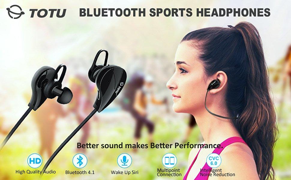 TOTU V4.1 Stereo Noise Isolating Sports Sweatproof Headset - Amazon - $7.99 AC