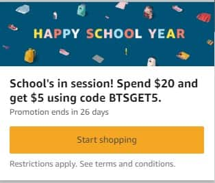 Spend $20 and get $5 on Amazon through the Amazon Assistant extension (YMMV)