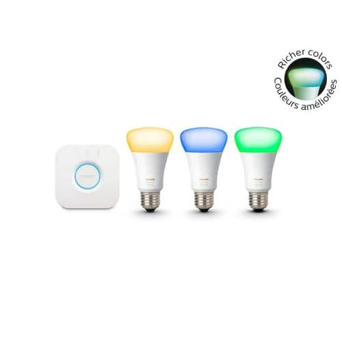 Philips Hue Starter White and Color Starter Kit, 3rd Gen $100 @ Home Depot B&M YMMV