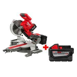 Milwaukee M18 18-Volt Fuel Miter Saw with Free 9ah Battery - $599.00 + Tax at Home Depot