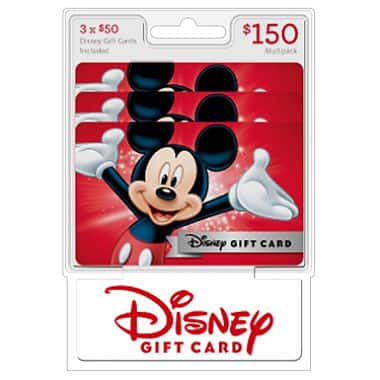 Sam's Club- Disney $150 multi-pack, 3/$50 gift cards - $142.98  Members only
