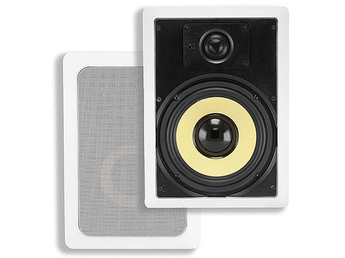 "Monoprice 6.5"" in-wall 3-way speaker pair for $49 +s/h"