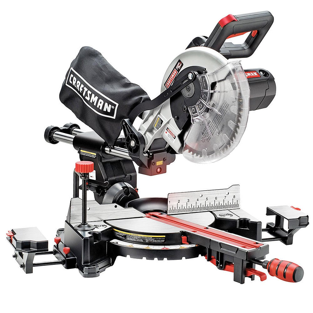 "Sears Craftsman 10"" Single Bevel Sliding Compound Miter Saw $206.99, $152.07 back in SYW points free ship"
