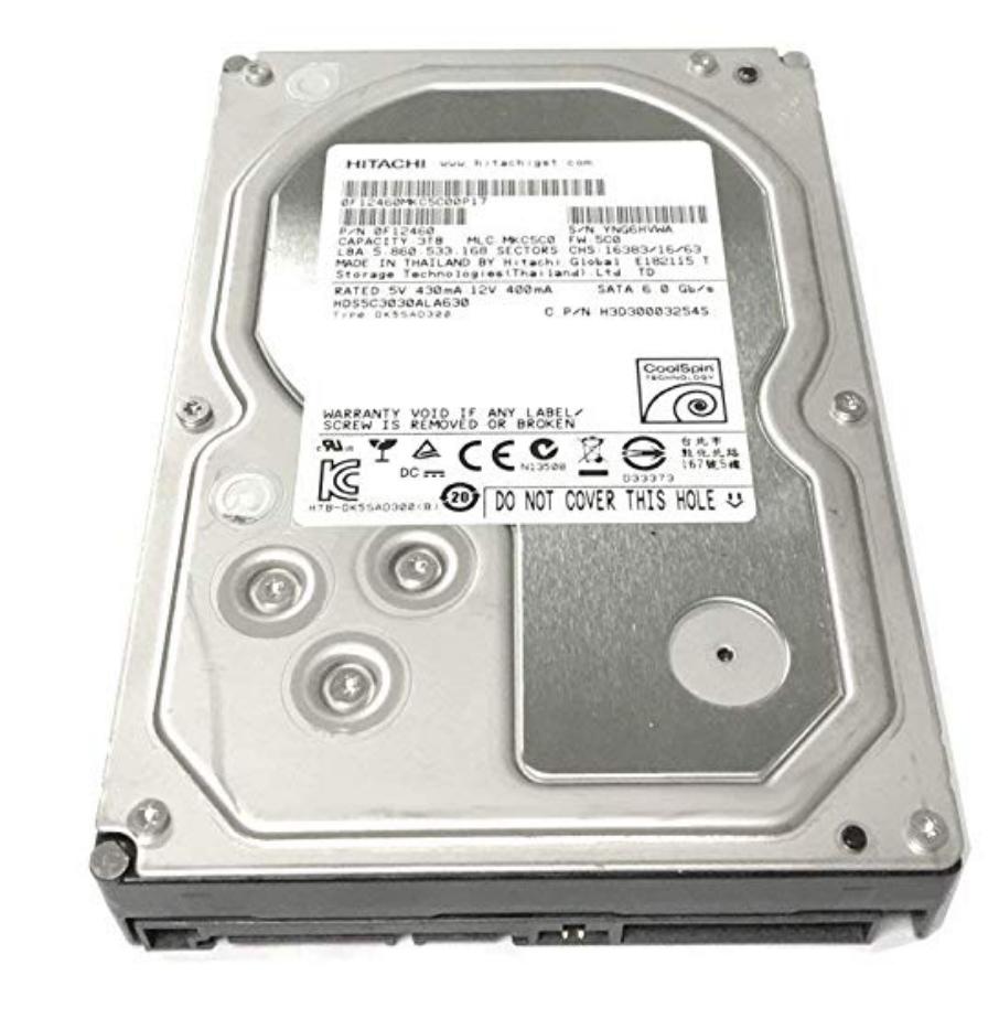Hitachi Deskstar 3TB SATA hard drive refurbished $29.99 & free shipping Amazon