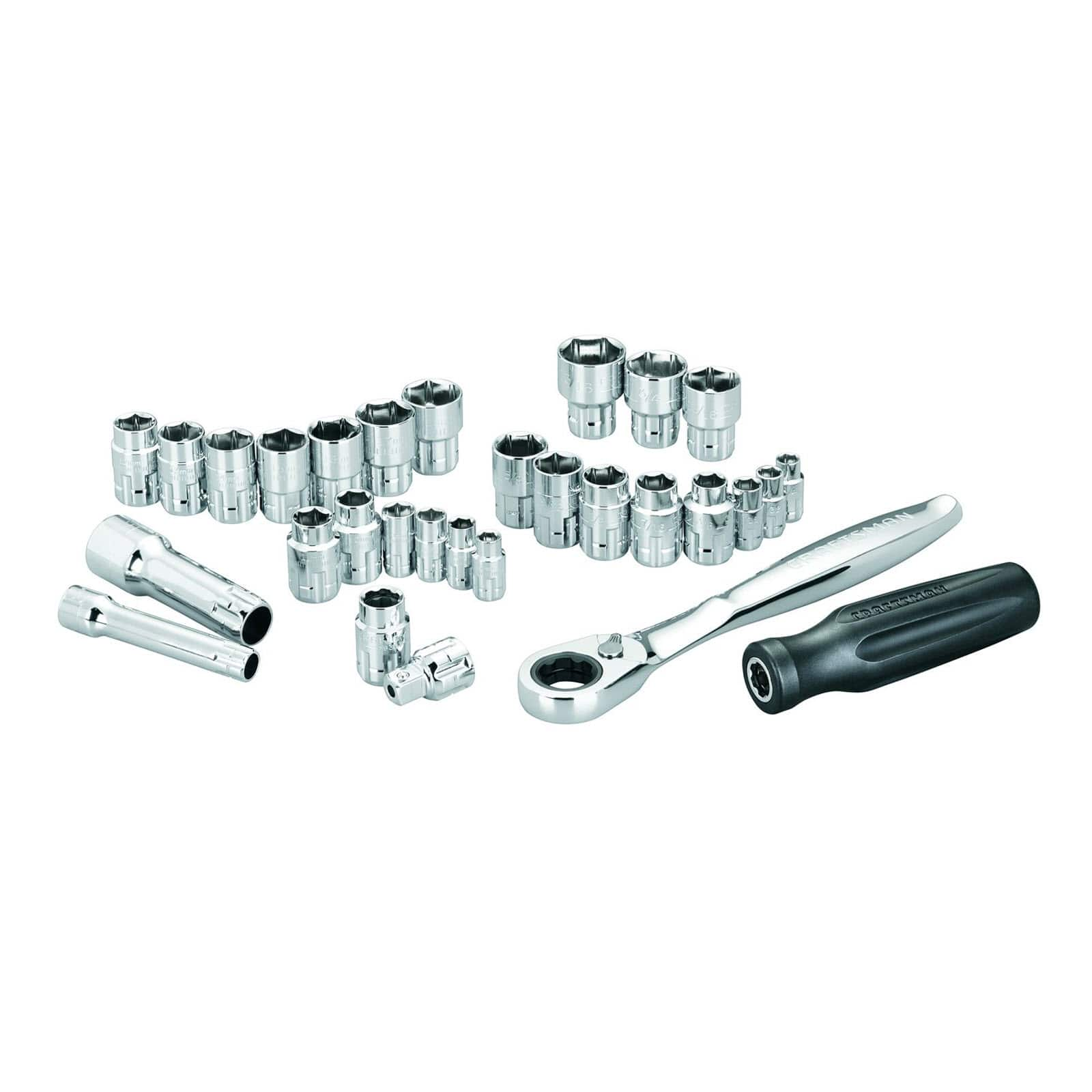 "Sears Craftsman 30 pc. 1/4"" & 3/8"" Drive Max Axess Socket Wrench Set $18.94"