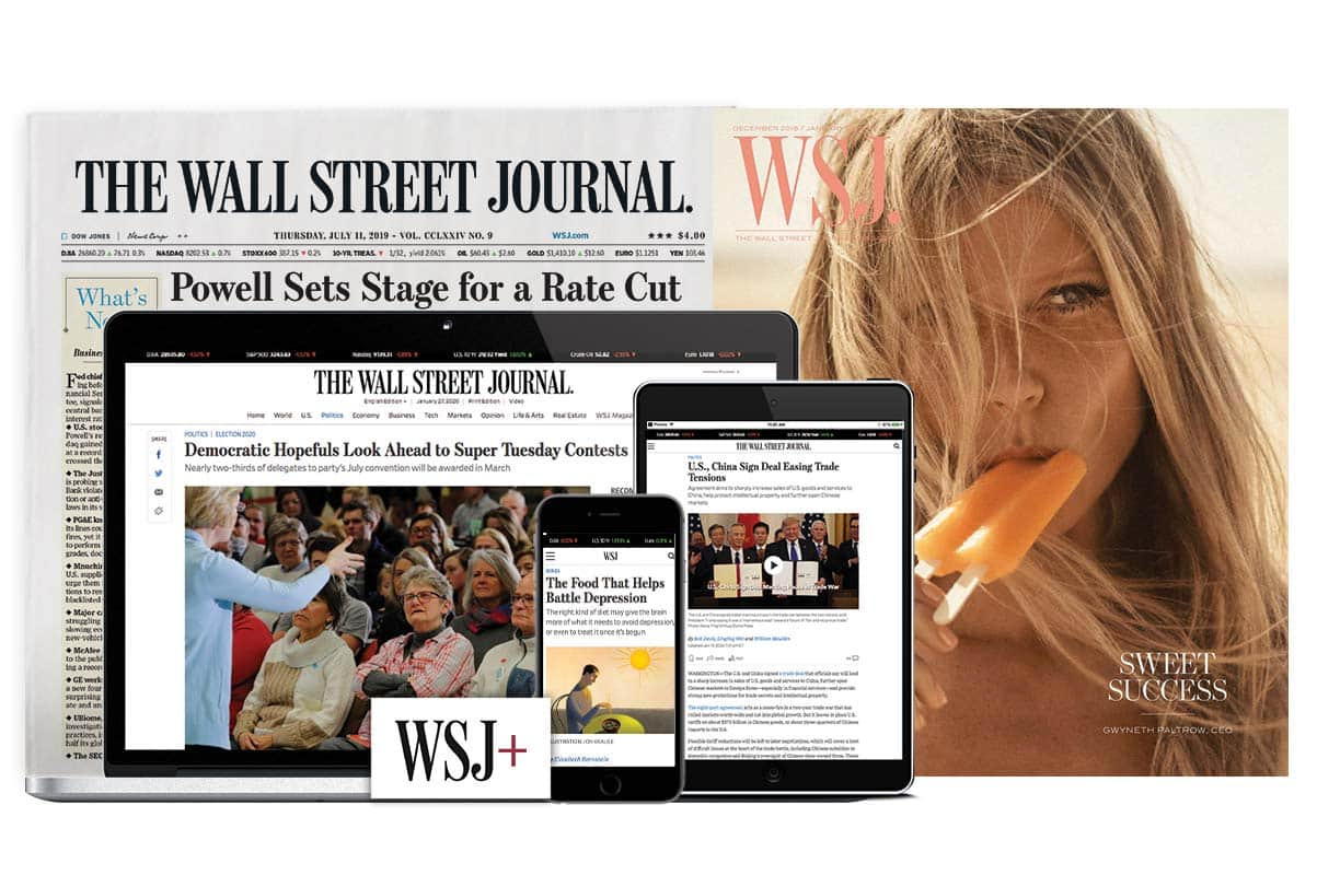 Wall Street Journal: $1 for 2-Month Digital Subscription or $12 for 12 Weeks Print + Digital