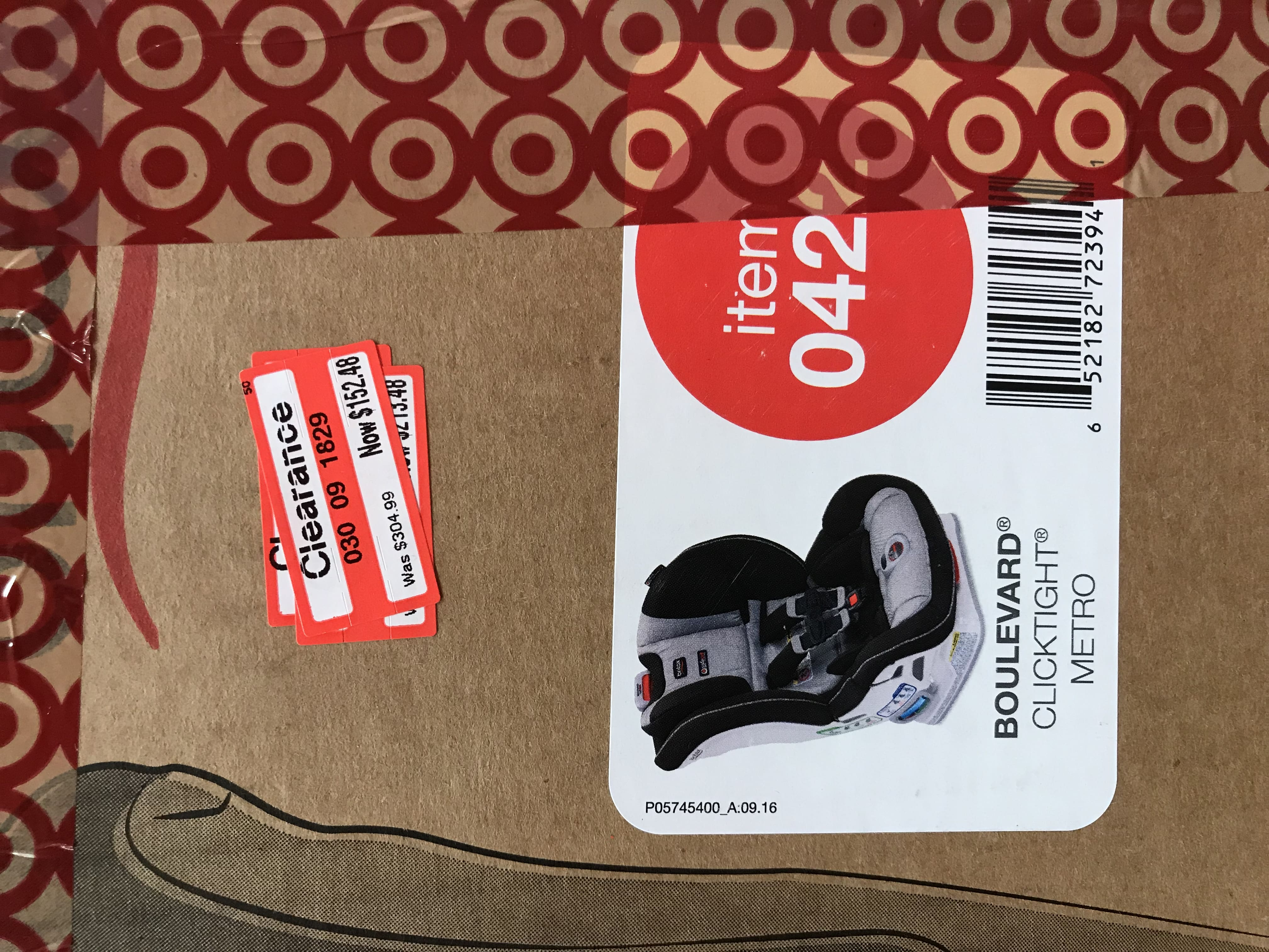 Britax Boulevard Clicktight Metro $152.48 - Target B & M YMMV