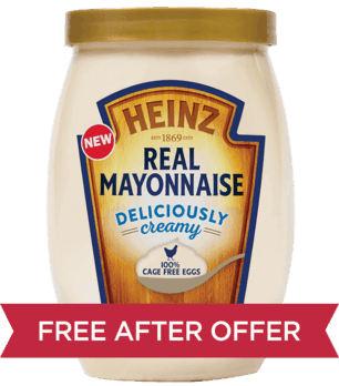 Heinz Real Mayonnaise - Ibotta Free after offer ( @Walmart) - Offer valid on 19 oz. squeeze or 30 oz. jar only